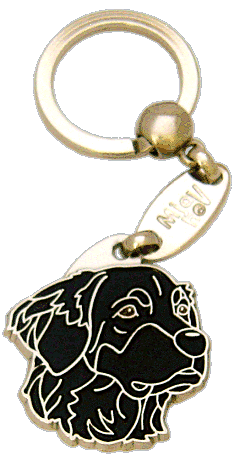 HOVAWART BLACK - pet ID tag, dog ID tags, pet tags, personalized pet tags MjavHov - engraved pet tags online